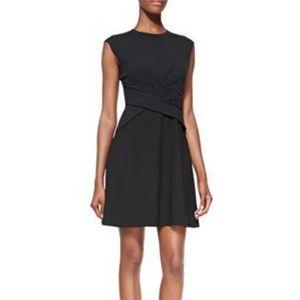 Rebecca Taylor Cap Sleeve Diamond Black Dress